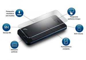 protección de cristal templado para iPhone