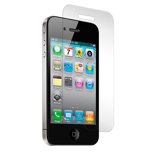 Protección de cristal templado para la pantalla de iPhone 4 y 4S