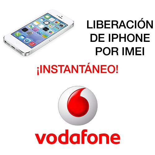 liberar iPhone por IMEI de Vodafone instantáneo